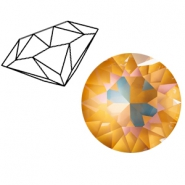 Swarovski Elements 1088-SS 39 chaton (8mm) Crystal Ochre DeLite
