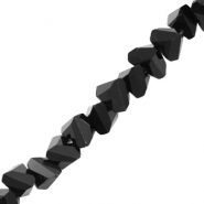 Top faceted beads triangle 6mm Jet Black