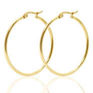 Stainless Steel earrings creole 40mm Gold