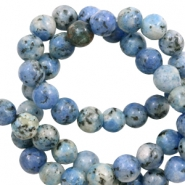 6 mm natural stone beads Blue