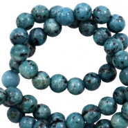 8 mm natural stone beads Petrol Blue