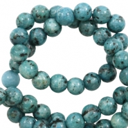 6 mm natural stone beads Petrol Blue