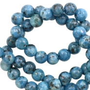 6 mm natural stone beads Ocean blue