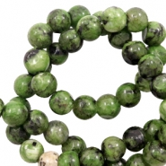 8 mm natural stone beads Forest Green