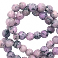 8 mm natural stone beads Vintage Purple-Pink