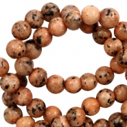 8 mm natural stone beads Ginger-Brown