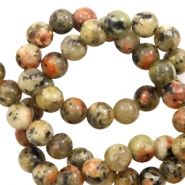 8 mm natural stone beads Warm Earth Yellow