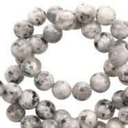 8 mm natural stone beads White-Black Mixed