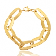 Stainless steel bracelets link Gold