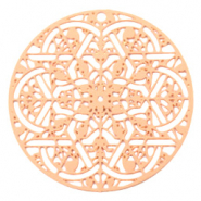 Bohemian charms round mandala Rose Gold (nickel free)