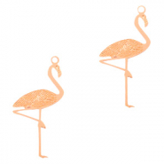 Bohemian charms flamingo Rose Gold (nickel free)