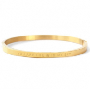 "Stainless steel bracelets ""YOU ARE MY STAR IN THE SKY"" Gold"