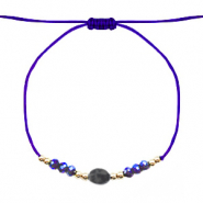 Ready-made Bracelets Stone&Faceted Blue-Gold