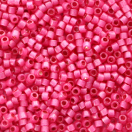 Miyuki beads delica's 11/0 Duracoat Semi Frosted Silverlined Dyed Hibiscus Pink DB-2175