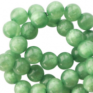 Polaris beads round 8 mm pearl shine Meadow Green