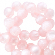 Polaris beads round 6 mm pearl shine Delicacy Pink