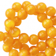 Polaris beads round 8 mm pearl shine Mineral Yellow