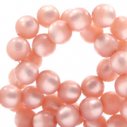 Super Polaris beads round 6 mm Cloud Coral Pink