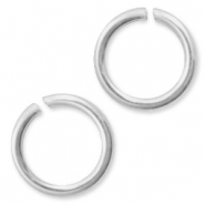 925 Silver findings jump rings 6mm Silver