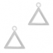 925 Silver charms triangle Silver