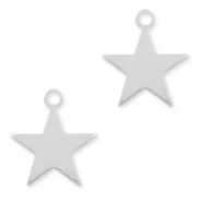 925 Silver charms star Silver