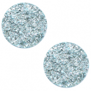 12 mm flat Polaris Elements cabochon Goldstein Sky Blue
