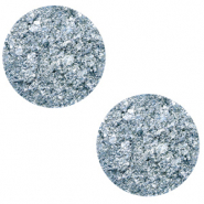 12 mm flat Polaris Elements cabochon Goldstein Powder Blue