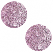 12 mm flat Polaris Elements cabochon Goldstein Iris Orchid Purple