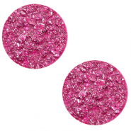 12 mm flat Polaris Elements cabochon Goldstein Magenta Purple