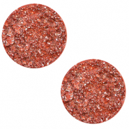 12 mm flat Polaris Elements cabochon Goldstein Tiger Lily Coral Pink