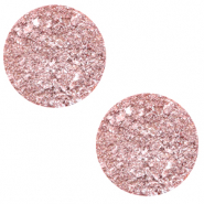 12 mm flat Polaris Elements cabochon Goldstein Cloud Coral Pink