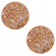 12 mm flat Polaris Elements cabochon Goldstein Caramel Yellow