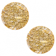 12 mm flat Polaris Elements cabochon Goldstein Mineral Yellow