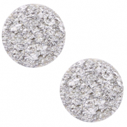 12 mm flat Polaris Elements cabochon Goldstein Daisy White