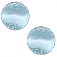 12 mm flat Polaris Elements cabochon Stardust Sky Blue