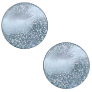 12 mm flat Polaris Elements cabochon Stardust Powder Blue