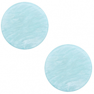 20 mm flat Polaris Elements cabochon Lively Sky Blue