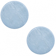 12 mm flat Polaris Elements cabochon Lively Powder Blue