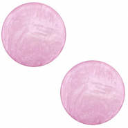 12 mm flat Polaris Elements cabochon Lively Iris Orchid Purple