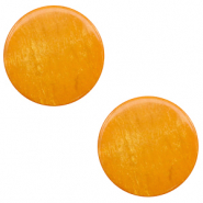 12 mm flat Polaris Elements cabochon Lively Caramel Yellow