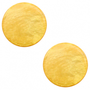 12 mm flat Polaris Elements cabochon Lively Mineral Yellow