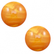 12 mm classic Polaris Elements cabochon Mosso shiny Caramel Yellow