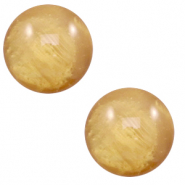 12 mm classic Polaris Elements cabochon Mosso shiny Cedar Brown