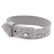 15mm leather Cuoio bracelets for 20mm cabochon Concrete Grey