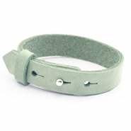 15mm leather Cuoio bracelets for 20mm cabochon Meadow Green
