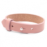 15mm leather Cuoio bracelets for 20mm cabochon Rose Dawn Pink