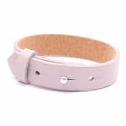 15mm leather Cuoio bracelets for 20mm cabochon Light Orchid Pink