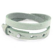 Cuoio bracelets leather 8mm double for 12mm cabochon Meadow Green