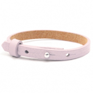 Cuoio bracelets leather 8mm for 12mm cabochon Light Orchid Pink