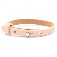 Cuoio bracelets leather 8mm for 12mm cabochon Delicacy pink